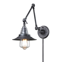 ELK Lighting 66826-1 - Insulator Glass 1 Light Swingarm Sconce In Weath
