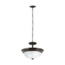 Sea Gull 77950-782 - Two Light Semi-Flush Convertible Pendant