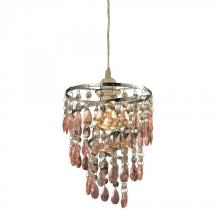 Sterling Industries 144-022 - One Light Pinkclear Down Mini Pendant
