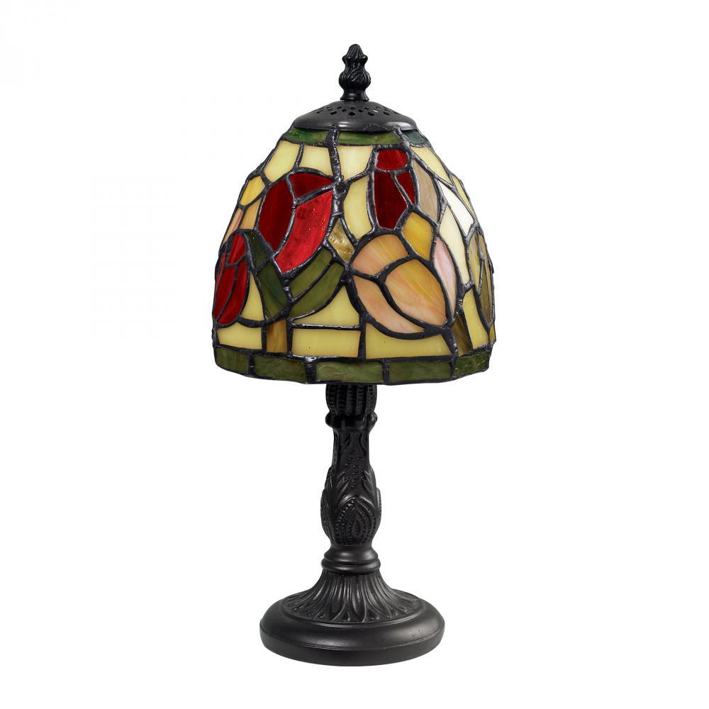 Mini tiffany table lamp in tiffany bronze 6uuhh candlelight log mini tiffany table lamp in tiffany bronze geotapseo Image collections