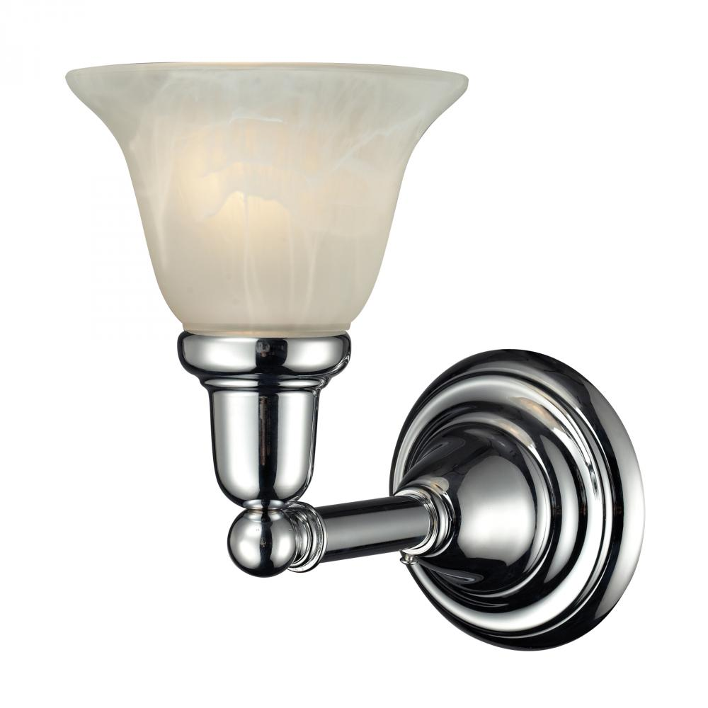 One Light Chrome Bathroom Sconce G0gl